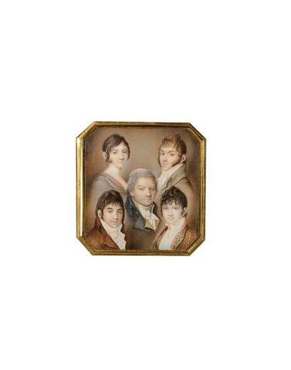 Alexandre Molinari (1772-1831) Rare miniature...
