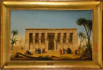 François Martin TESTARD Ecole Française du XIXe siècle « Le temple de de Dendérah...