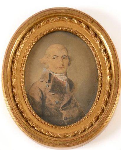 MEULEMANS Adrian (1766-1835) « Portrait d'homme...