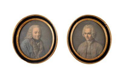 Ecole Française du XIXe siècle « Voltaire...