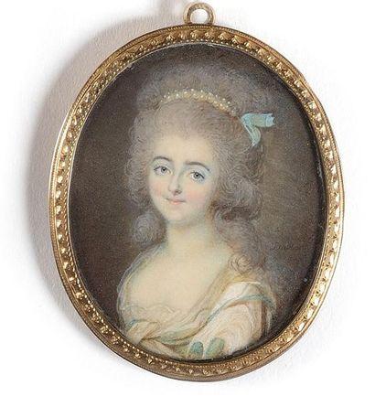 François DUMONT (1751-1831) Portrait de Louise-Marie-Adélaïde...