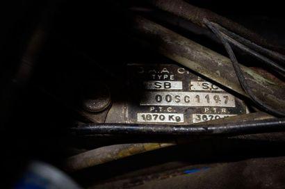 1972  CITROËN SM  Numéro de série 00SC1197  GT française par excellence  Carte grise...