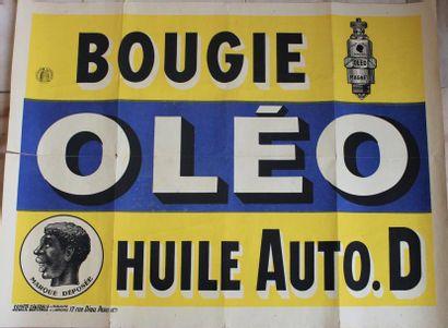 « Bougies Oléo » Affiche lithographiée pour...