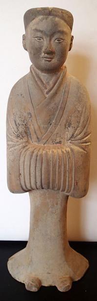 CHINE EPOQUE TANG (618-907) Dame de cour...