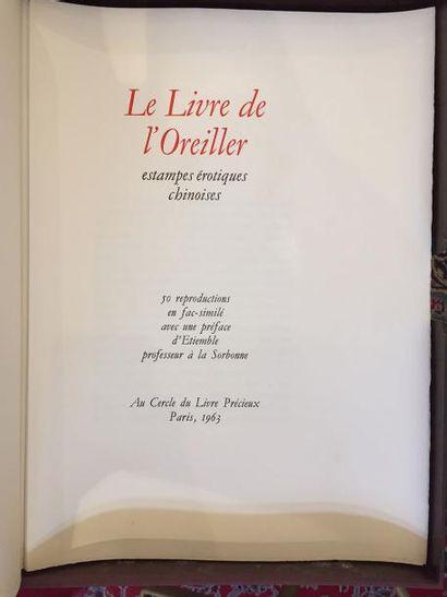 LE LIVRE DE L'OREILLER, estampes erotiques...