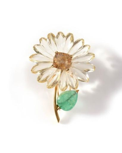 SUZANNE BELPERRON Sublime broche Fleur en...