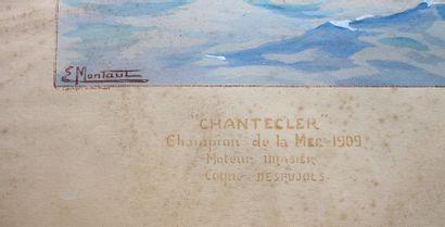 Ernest Montaut (1879-1909)  « Chantecler »  Lithographie en couleurs, rehaussée...