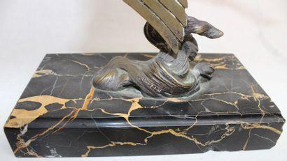 Francois Victor BAZIN (1897-1956)   « Trophée Hispano-Suiza » « Cigogne »  Mascotte...