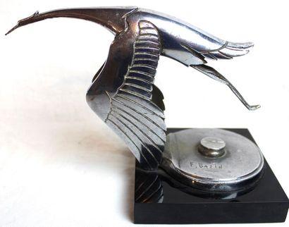 Francois Victor BAZIN (1897-1956)   « Mascotte Hispano-Suiza » « Cigogne »  Grand...
