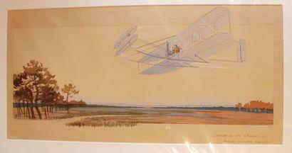 Ernest MONTAUT (1879-1909)  « Wright au camp...