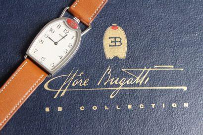 """""""Bugatti, montre """"CALANDRE"""" vers 1990""""  Belle montre bracelet en acier reprenant..."""