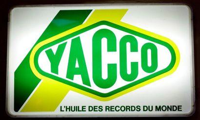 """ Enseigne lumineuse -Yacco""  Enseigne lumineuse simple face, pour les huiles ""Yacco""..."