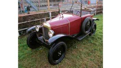 1923  CITROËN 5HP TYPE C CABRIOLET  Châssis n° 20.306  Carte grise française  C'est...