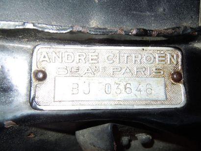 1950  CITROËN TRACTION 11 BL  Châssis n°545124 - 51093 kilomètres d'origine  Peinture...