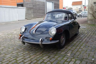 1961 PORSCHE 356 B 1600 SUPER CABRIOLET Numéro...