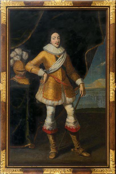 ECOLE FRANCAISE vers 1622, suiveur de Frans POURBUS   Portrait du roi Louis XIII...