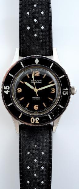 BLANCPAIN Fifty Fathoms vers 1955 Exceptionnelle et rarissime Montre de plongée en...