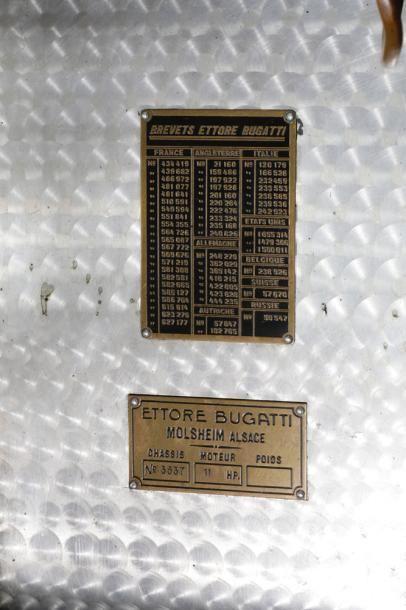 BUGATTI TYPE 35  Numéro de série 3537 - À remettre en route  Carte grise française...
