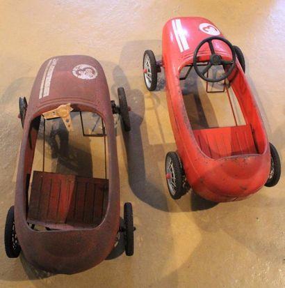 """""""Baby Course- Automobiles pour enfant MG""""  Deux automobiles à pédales en tôle pour..."""
