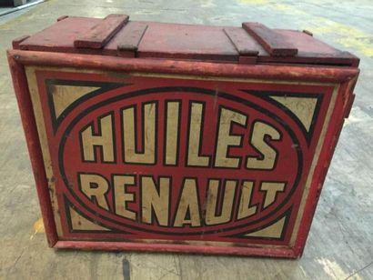"""""""Caisse de transport- Renault""""   Caisse en bois destinée au stockage et au transport..."""