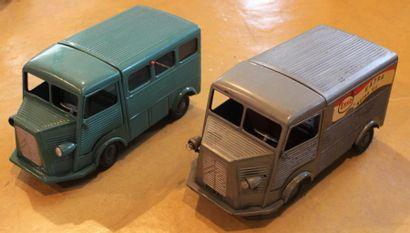 """""""Jouets JRD- Citroën Tube H""""  Deux jouets en tôle de la marque JRD, type Citroën..."""