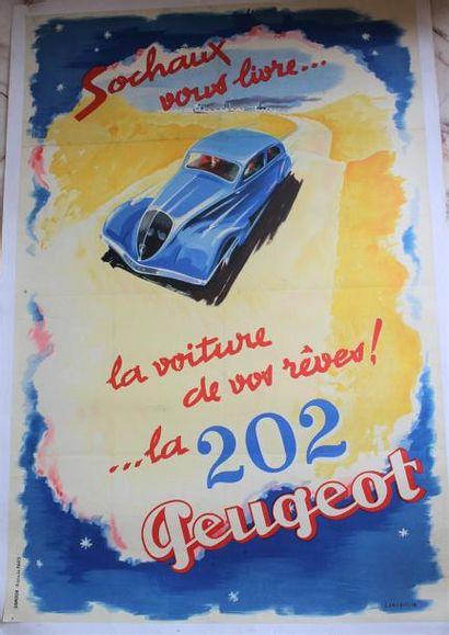 Jean JACQUELIN ( 1905- 1989) « Sochaux vous...