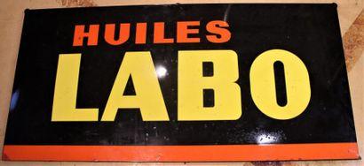 «Plaque émaillée- HUILES LABO» Plaque émaillée...