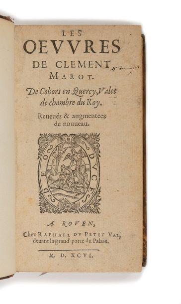 MAROT (Clément). Les Œuvres de Clément Marot....