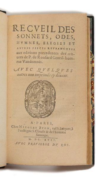 RONSARD (Pierre de). Recueil des sonnets,...