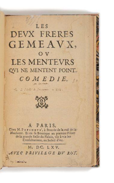 [BOURSAULT (Edme)]. Les Deux freres gemeaux,...