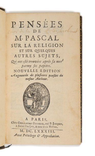 PASCAL (Blaise). Pensées de M. Pascal sur...
