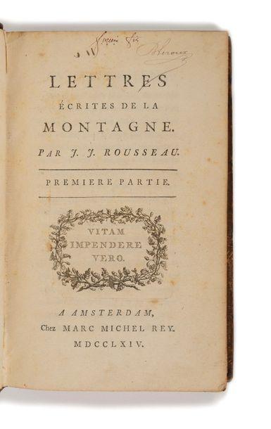 ROUSSEAU ( Jean-Jacques). Lettres écrites...