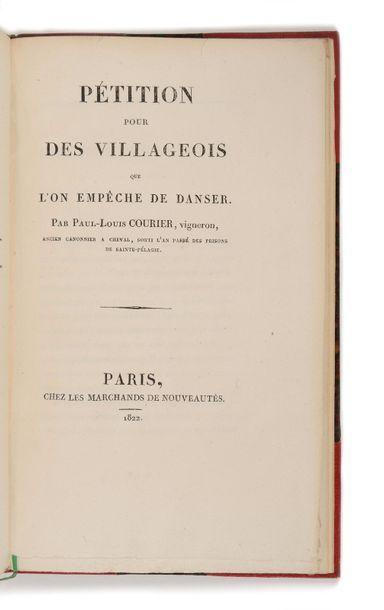 COURIER (Paul-Louis). Pétition pour des villageois...