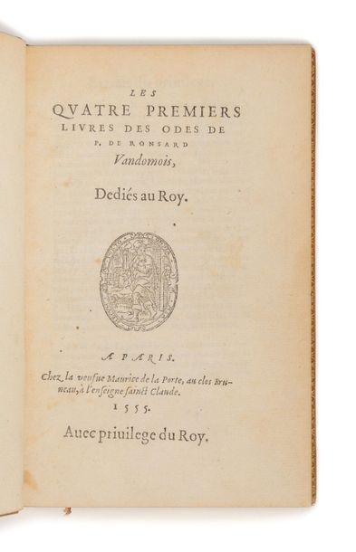 RONSARD (Pierre de). Les Quatre premiers...