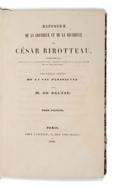 BALZAC (Honoré de). Histoire de la grandeur...
