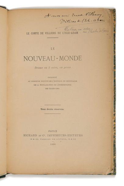 VILLIERS DE L'ISLE-ADAM (Auguste de). Le...