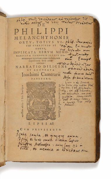 CAMERARIUS ( Joachim). De Philipp Melanchtonis...