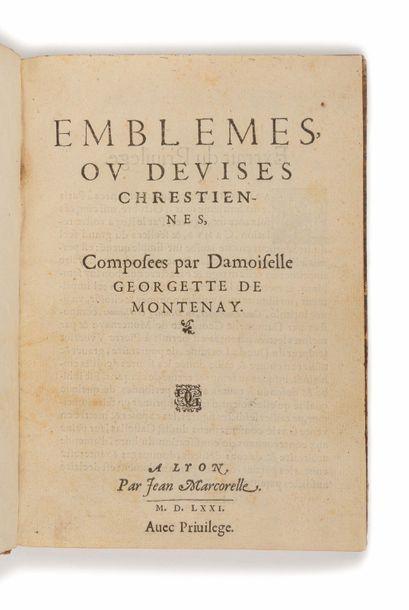 MONTENAY (Georgette de). Emblemes, ou devises...