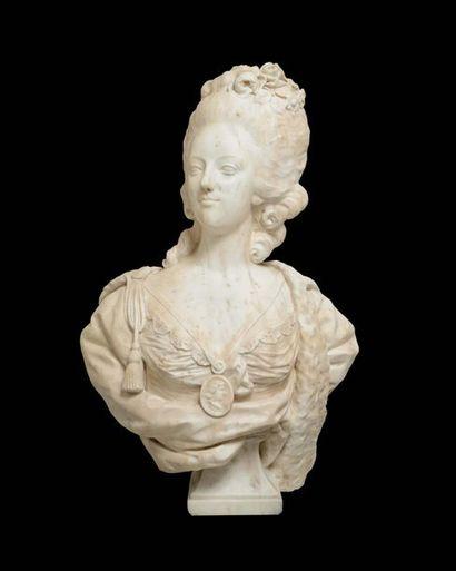 Felix LECOMTE, d'après. « Buste de la Reine...