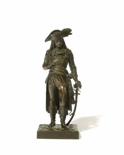 Le general Bonaparte Sujet en bronze a patine...