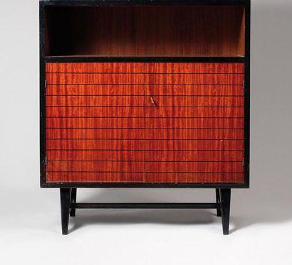 MAURICE FLACHET (1872-1964) Cabinet en bois...