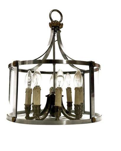 TRAVAIL DES ANNEES 1960 Lanterne en acier...