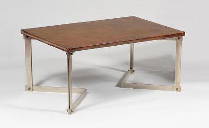 Table basse ou bout de canapé à plateau rectangulaire...