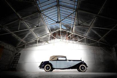 1934 DELAGE D8 CABRIOLET Modèle : D8 15 Cabriolet  Châssis n° 38713  Moteur 8 cylindres...