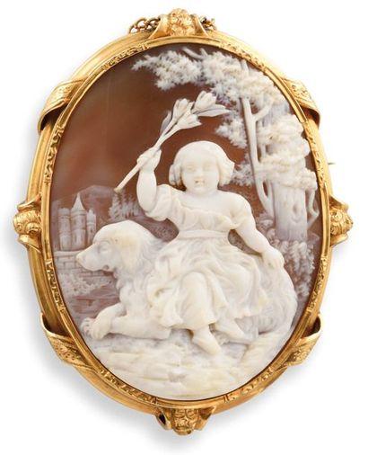PARURE XIXe siècle  composée d'une broche...