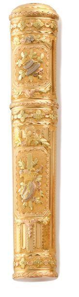 ETUI A CIRE France XVIIIe siècle  en or jaune,...