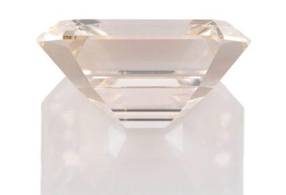 BAGUE  en or gris 750 millièmes et diamants, présentant un important diamant de...