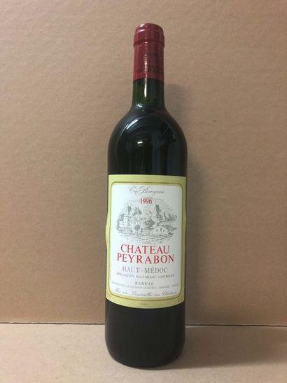 12 Blle Château PEYRABON (Haut Médoc) 1996...