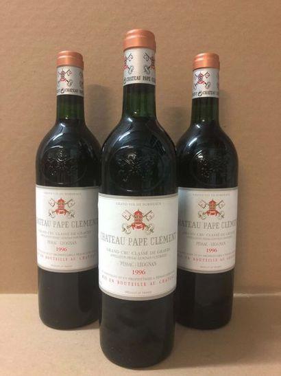 3 Blle Château PAPE CLEMENT (Graves) 1996...