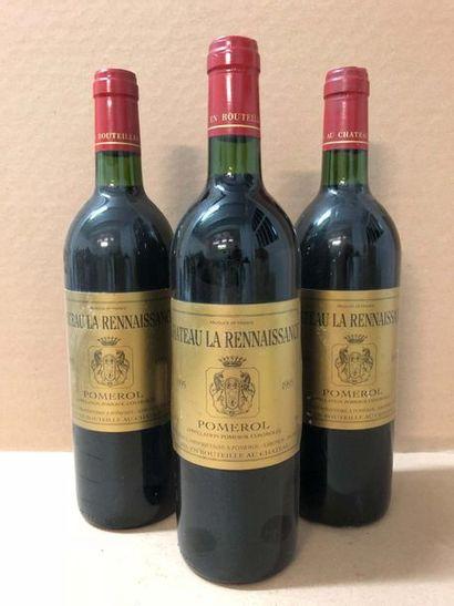 3 Blle Château LA RENAISSANCE (Pomerol) 1995...